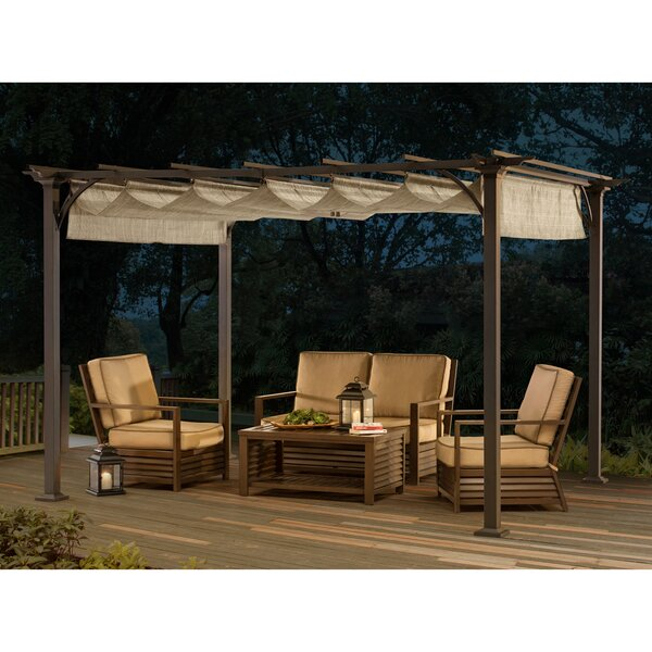 Naples 8 ft W. x 10 ft. D Metal Pergola by Sunjoy
