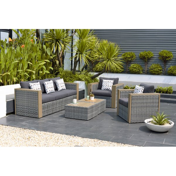 Tahara 5 Piece Sofa Set with Cushions by Beachcrest Home