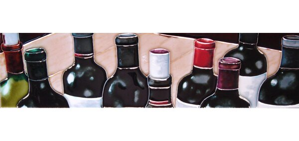 Horizontal Wine Caps Tile Wall Decor by Continental Art Center