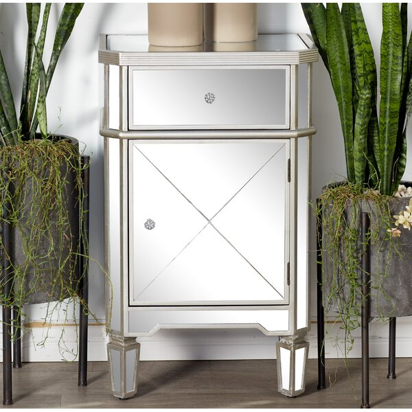 Bridgegate Mirror 1 Drawer Nightstand by House of Hampton