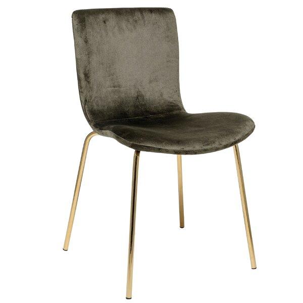 Dehoyos Upholstered Hunter Velvet Side Chair (Set of 2) by Mercer41