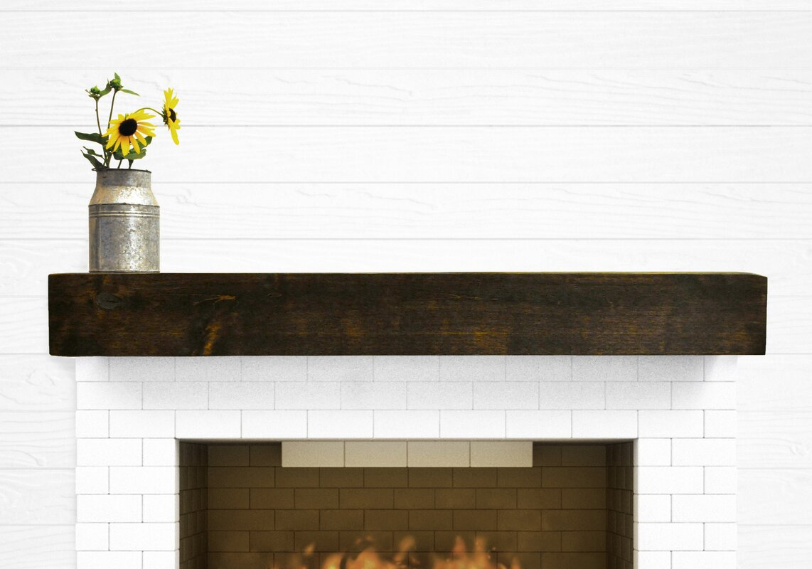 Dogberry collections modern farmhouse fireplace mantel for Fireplace mantel shelf designs