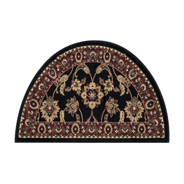 Fanchon Beautiful Hearth Slice Black Indoor/Outdoor Area Rug by Astoria Grand