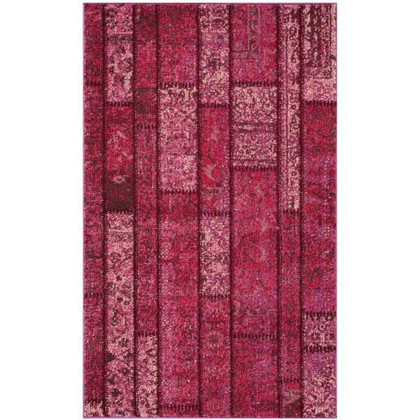 Pink Area Rug by Bungalow Rose