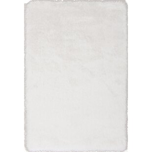 Read Reviews Somerville Hand-Tufted White Area Rug By House of Hampton