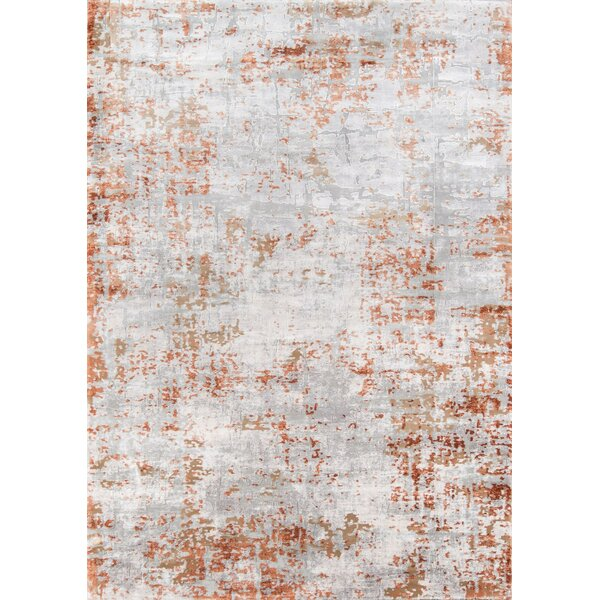 Exmouth Copper Gray Area Rug By Williston Forge.