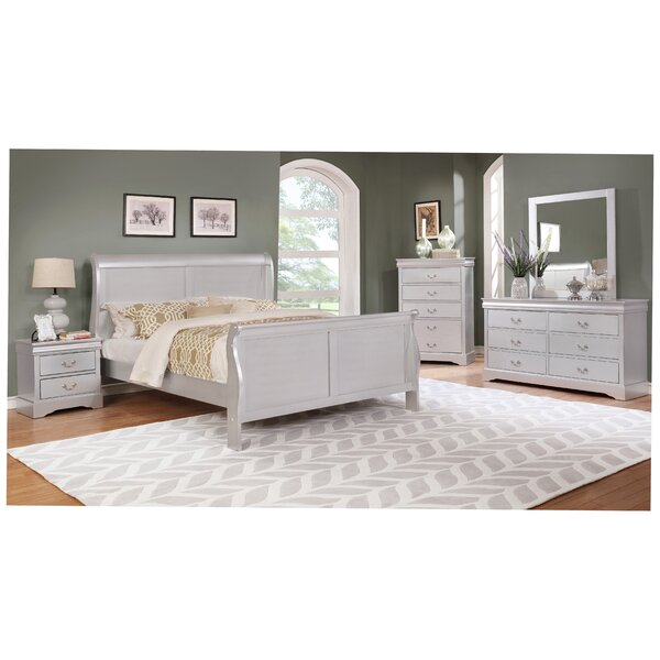 Caterina Queen Sleigh 5 Piece Bedroom Set by House of Hampton