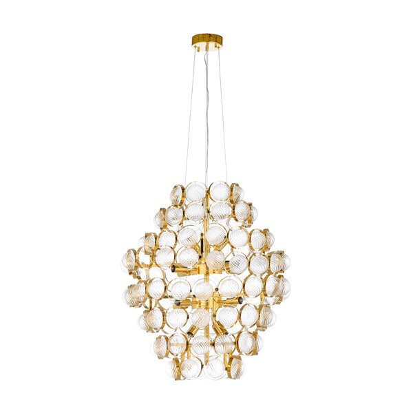 16 - Light Unique / Statement Tiered Chandelier By Wildwood
