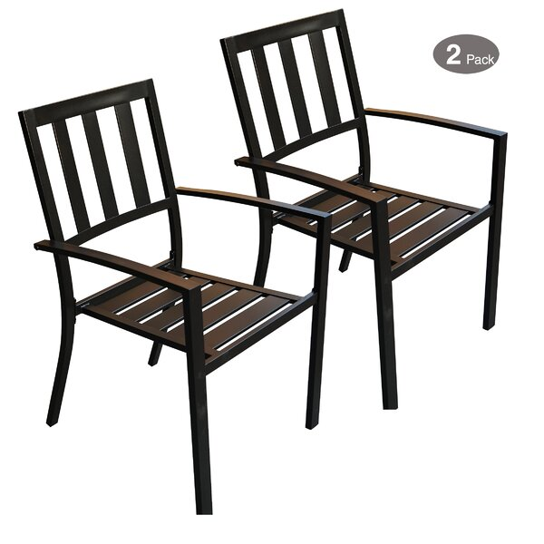 Sulgrave Stacking Patio Dining Chair (Set of 2) by Winston Porter
