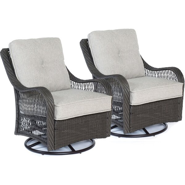 Innsbrook Patio Chair with Cushion (Set of 2) by Alcott Hill