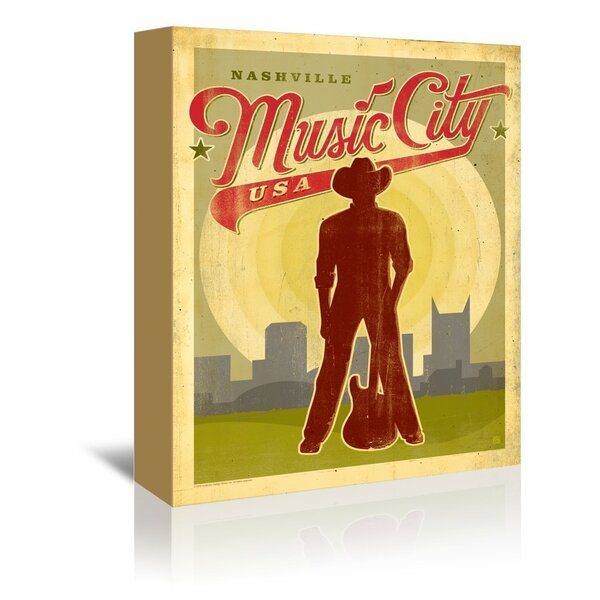 Music City Red USA Framed Vintage Advertisement by East Urban Home