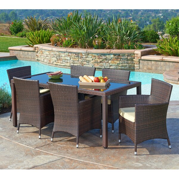 Cassidy 7 Piece Dining Set With Cushions By Mistana