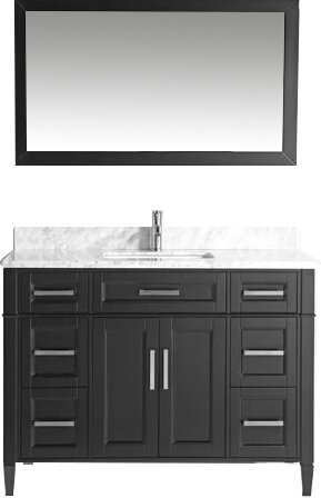Dallaire 60 Single Bathroom Vanity Set with Mirror by Gracie Oaks