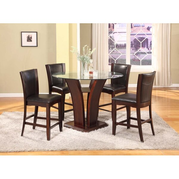 Herculis 5 Piece Counter Height Dining Set by Latitude Run