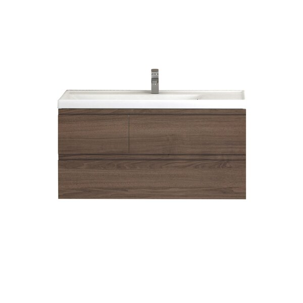 Jaramillo 39 Wall-Mounted Single Bathroom Vanity by Union Rustic