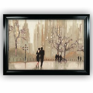 'An Evening out' by Julia Purinton Framed Painting Print on Wrapped Canvas by Wexford Home