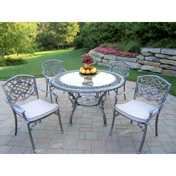 Mcgrady 5 Piece Dining Set with Cushions by Astoria Grand