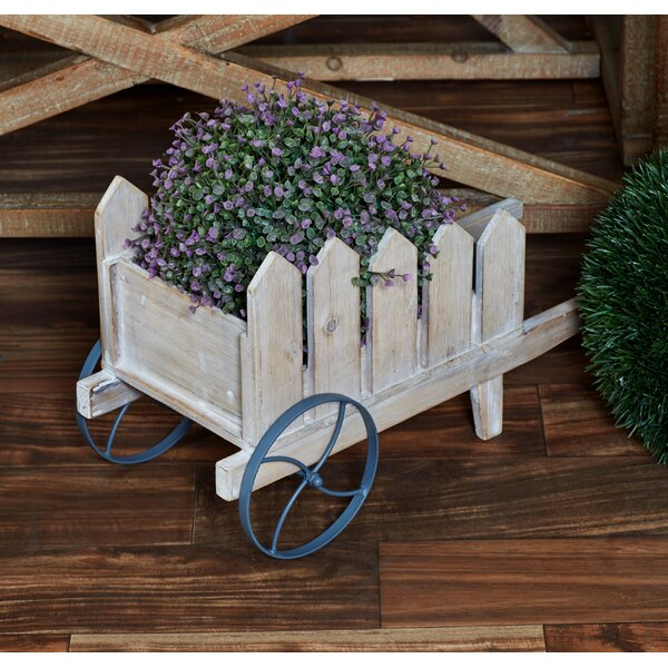 Traditional Picket Fence Wheelbarrow Planter by Cole & Grey