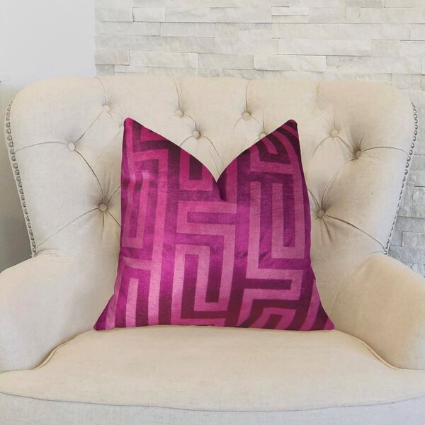 Cesire Maze Double Sided Throw Pillow by Plutus Brands
