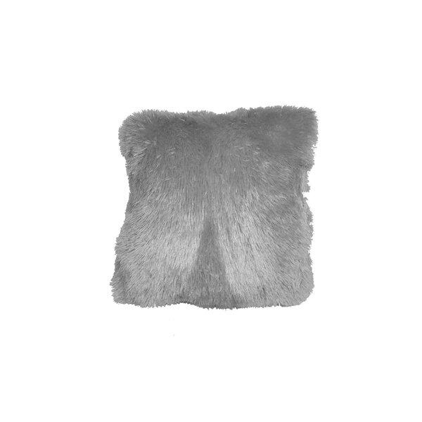 Hawes Shag Geranium Throw Pillow by Harriet Bee