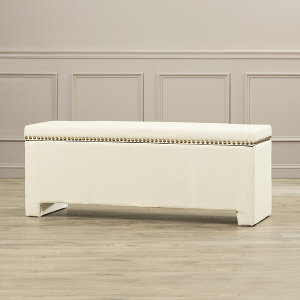 Cloville Upholstered Storage Bench by Alcott Hill