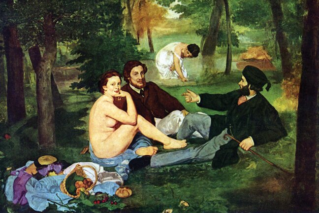 Luncheon on the Grass Painting Print on Wrapped Canvas