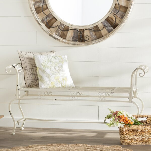 Lemire Iron Bedroom Bench by Lark Manor