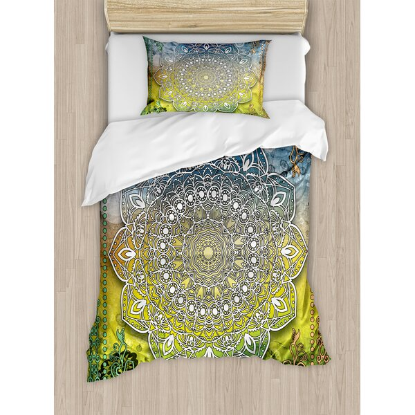 Indian Mystic Duvet Set by Ambesonne
