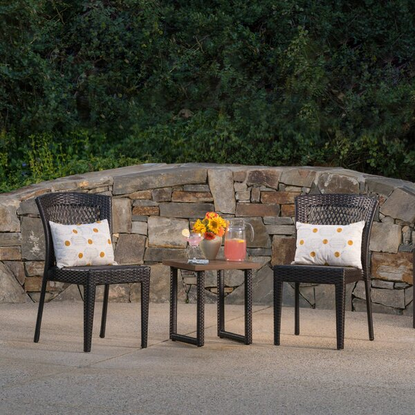 Westby 3 Piece Rattan Conversation Set by Winston Porter