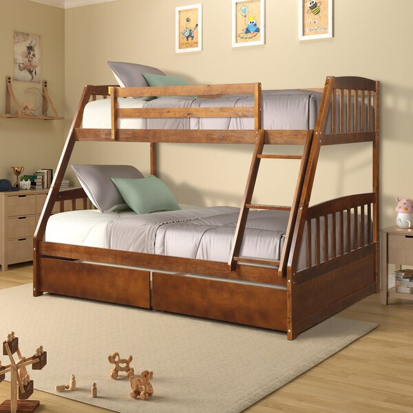 Renee Twin over Full Bunk Bed with 2 Drawers by Harriet Bee
