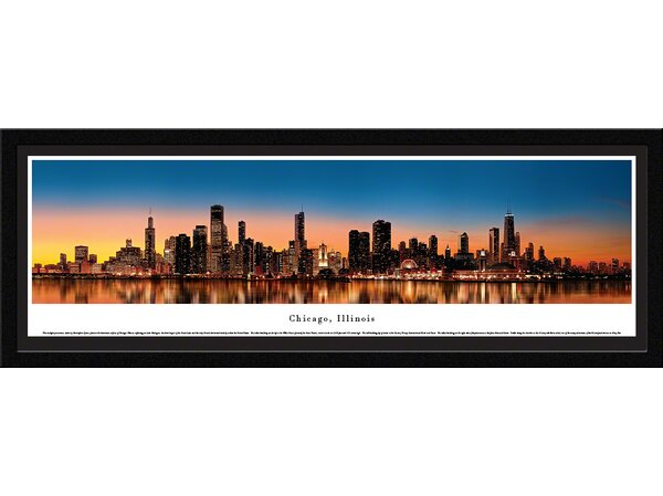 US Skyline Chicago, Illinois by Christopher Gjevre Framed Photographic Print by Blakeway Worldwide Panoramas, Inc