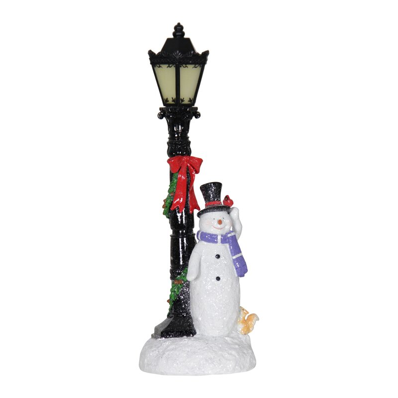 LED Lamp Post Snowman
