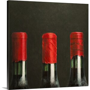 'Three Wines, 2010' by Lincoln Seligman Painting Print on Canvas by Great Big Canvas