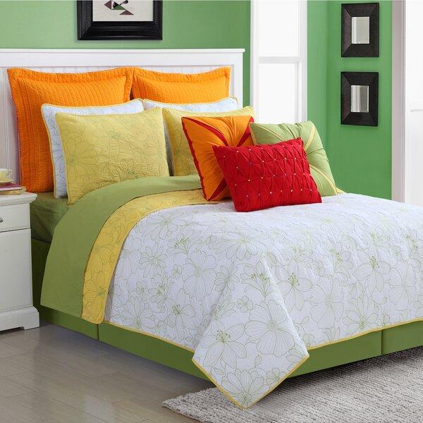 Cotton 3 Piece Reversible Quilt Set by Fiesta