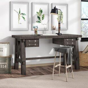 Langsa Solid Wood Writing Desk by Laurel Foundry Modern Farmhouse Amazing