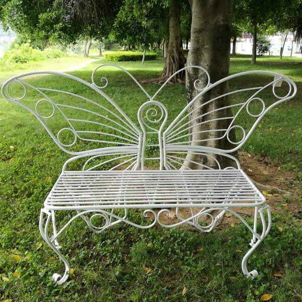Butterfly Metal Garden Bench by Hi-Line Gift Ltd.