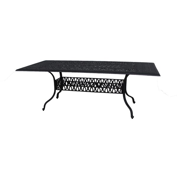 Thurston Aluminum Dining Table by Fleur De Lis Living