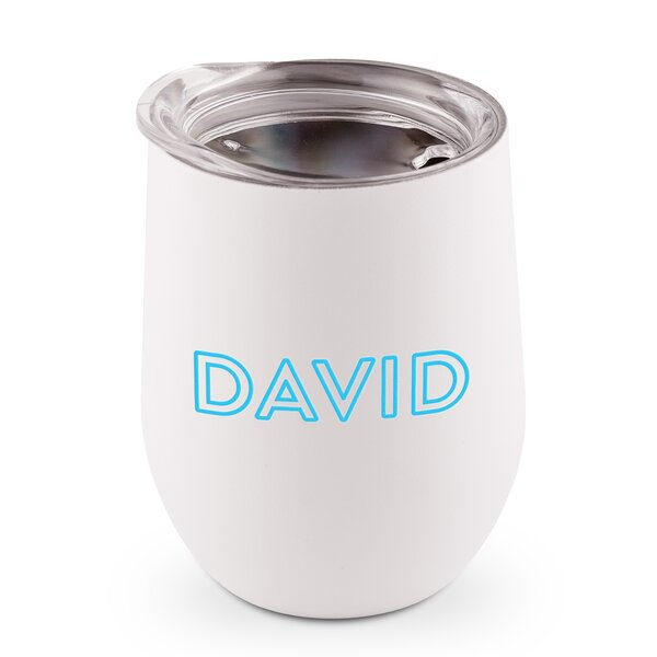 Sass Line Printing Personalized 9 oz. Stainless Steel Travel Tumbler by Ebern Designs