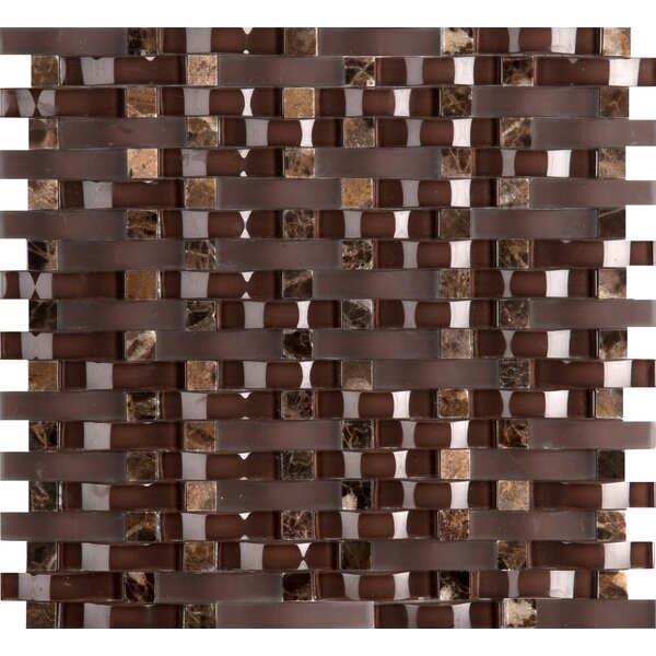 Lucente 12 x 13 Glass Mosaic Tile in Satara by Emser Tile