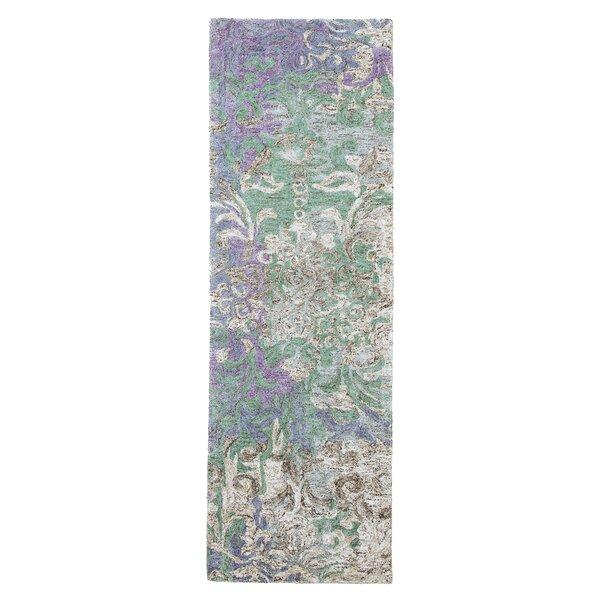 Marquesa Abstract Handmade Tufted Microfiber Blue/Purple/Brown Area Rug