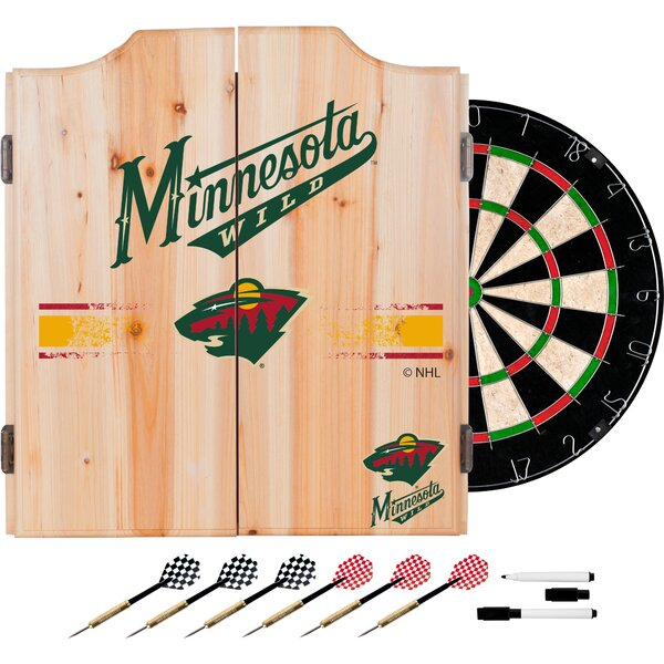 NHL Dartboard and Cabinet Set by Trademark Global