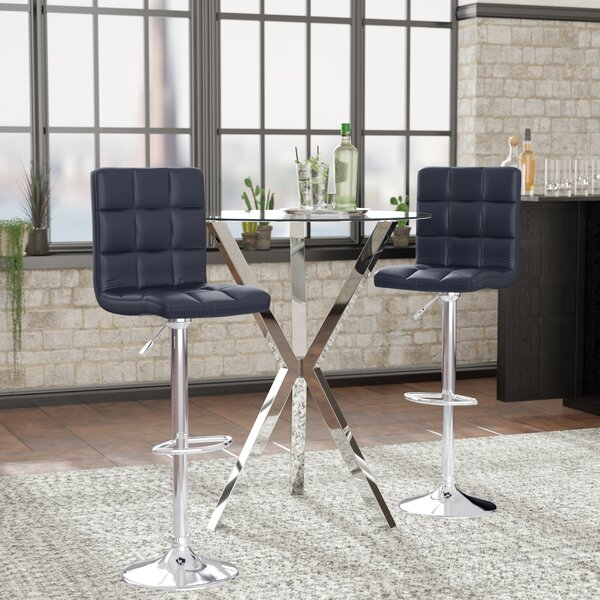 Cassini Adjustable Height Swivel Bar Stool (Set of 2) by Wade Logan