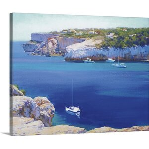 Cala Llombards by Alex Hook Krioutchkov Painting Print on Wrapped Canvas by Great Big Canvas