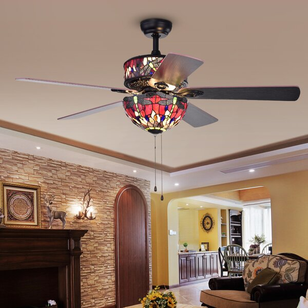 52 Beare 5-Blade Ceiling Fan by Fleur De Lis Living