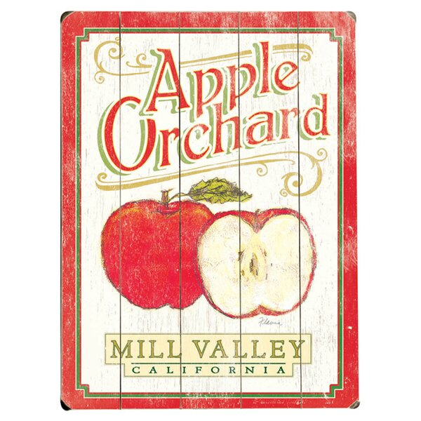 Personalized Apple Orchard Vintage Advertisement Multi-Piece Image on Wood by Artehouse LLC