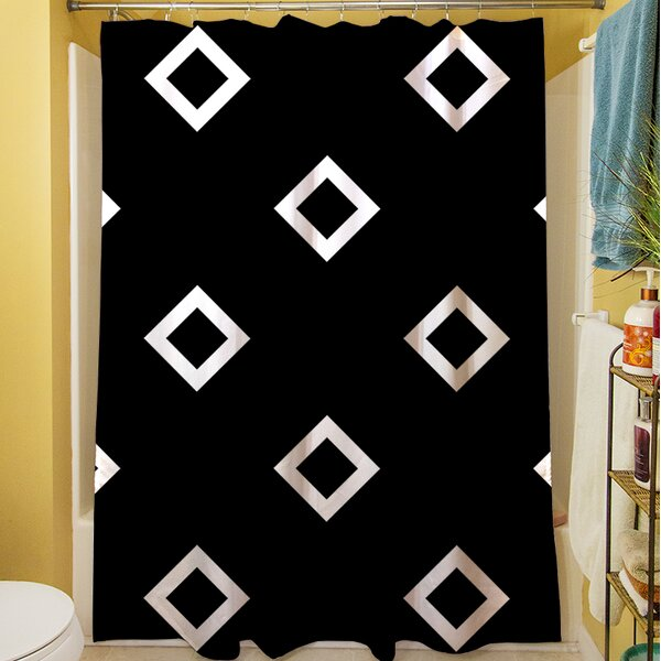 Band Shower Curtain by Manual Woodworkers & Weavers