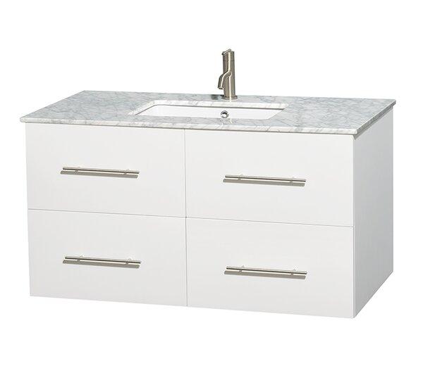 Centra 42 Single Bathroom Vanity Set by Wyndham Collection