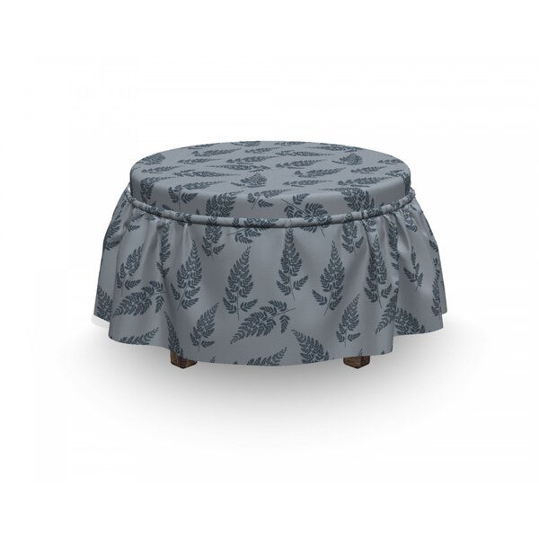 Spring Country Nature Motif Ottoman Slipcover (Set Of 2) By East Urban Home