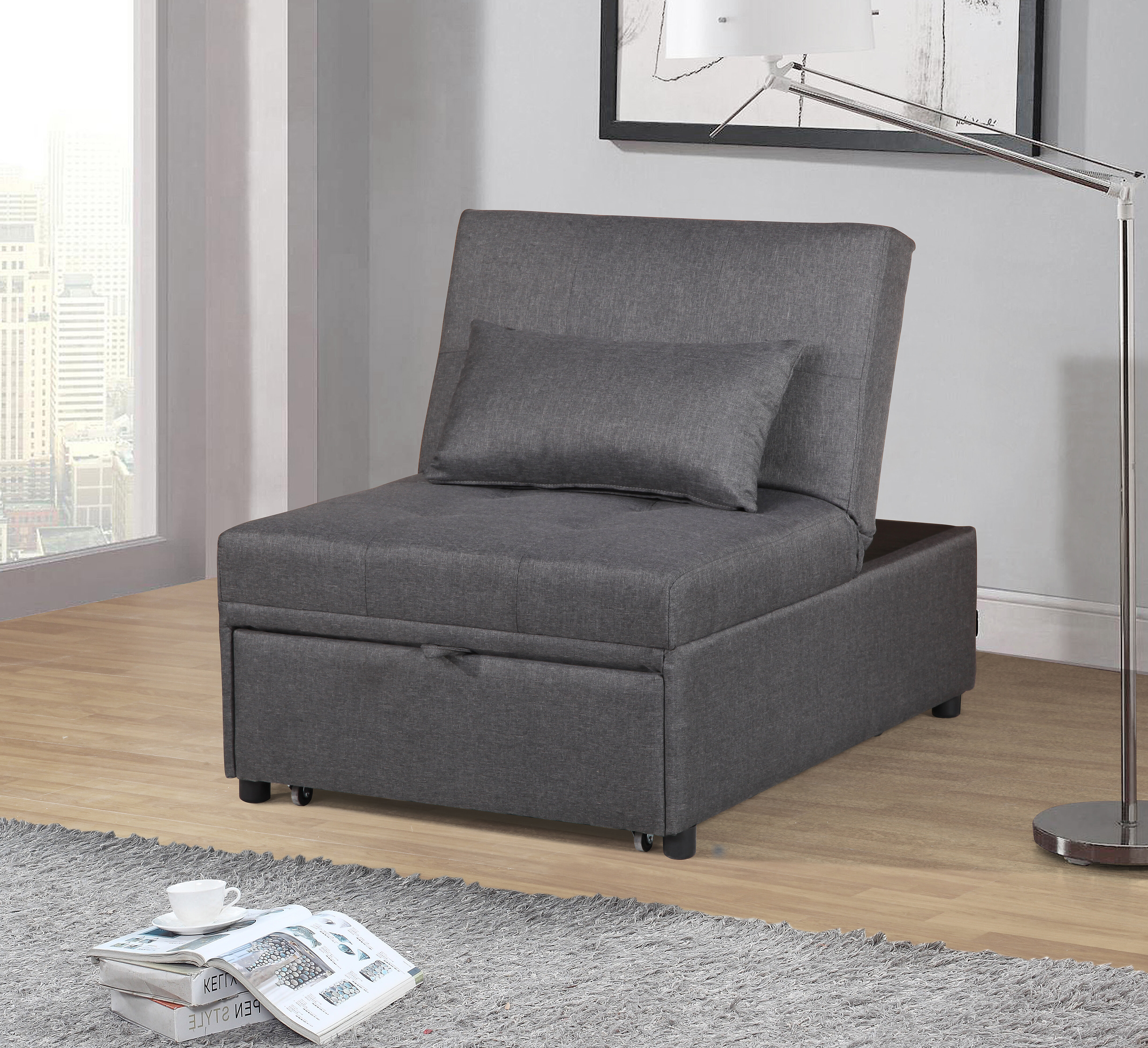 Tufted Back Futon Chair