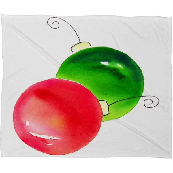 Laura Trevey Deck The Halls Plush Fleece Throw Blanket by Deny Designs